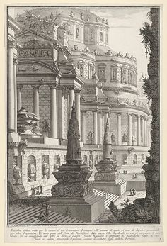 Giovanni Battista Piranesi | Plate 3: 'Ancient mausoleum erected for the ashes of a Roman emperor' (Mausoleo antico eretto per le ceneri d'un imperadore romano), from the series 'Part one of architecture and perspectives: drawn and etched by Gio. Batt'a Piranesi, Venetian Architect: dedicated to Nicola Giobbe' (Prima parte di Architetture, e prospettive inventate, ed incise da Gio. Batt'a Piranesi Architetto Veneziano dedicate al Sig. Nicola Giobbe) | The Met