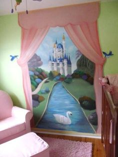 gorgeous for a girl's room! I wish I was an artist....or knew one!!!