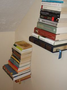 instructable - how to make an invisible bookshelf out of a book