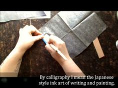 Using graphite paper to transfer images onto leather and wood video