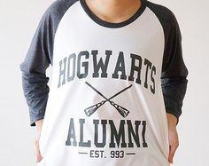 S, M, L--Hogwarts Alumni TShirt Harry Potter TShirt Baseball T-Shirts Jersey Raglan Langarm Shirts Unisex-Hemden Frauen T-Shirts