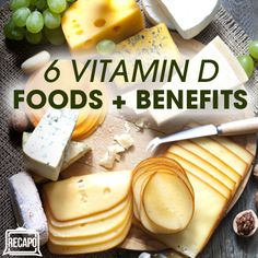 6 Benefits of Vitamin D (1,000 IU/day) & Vitamin D Grocery List Foods | Benefits: 1. Bone Health 2. Burns Fat 3. Cancer Prevention 4. Eye Health 5. Reduce Inflammation 6. Prevents Fibroids | Foods: 1. Fatty Fish – Salmon, Tuna, Mackerel, Sardines (eat one serving two or three times per week) 2. Egg Yolks rich in Vitamin D + calcium you need. 3. Milk – One cup of 2% milk will give you 100 IU of Vitamin D. 4. Cheese 5. Greek Yogurt | Recapo re The Dr Oz Show