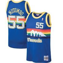 Men s Denver Nuggets Dikembe Mutombo Mitchell  amp  Ness Blue 1991-92 Hardwood  Classics Swingman. Best Nba JerseysDenver ... f5e8c6f97