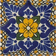 Mexican Tile - Polanco Mexican Tile I was obsessed with these in mexico but so worried they would break on the flight back :(