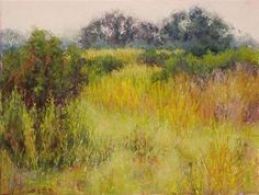 """A Lot of Yellow by Kathy Detrano Pastel ~ 9"""" x 12"""""""