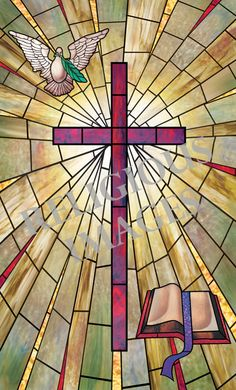 Selection of artistic religious window film designs for churches from Illuminado Window Film. Stained Glass Window Film, Stained Glass Church, Stained Glass Art, Mosaic Glass, Stained Glass Designs, Stained Glass Patterns, Stain Glass Cross, Jesus Painting, Church Windows
