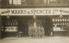 Shown above is Marks & Spencer's penny bazaar in Sheffield in the early     1900s. One of the original Penny Bazaars - in the Grainger Market, Newcastle     upon Tyne - remains open to this day, and is now the smallest M store     in operation. -  #socialsheffield #sheffield