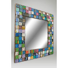 31-inch Square Mosaic Mirror