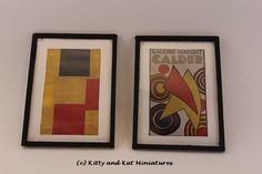 Kitty and Kat Miniatures: Works Of Art From Magazine Pictures, Packaging Plastic And Wood Scraps - Tutorial