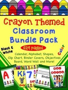 Crayon Themed Classroom Bundle Pack - Everything you will need to create your…