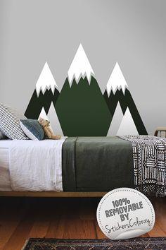 Berge-Wandtattoo Wanddekoration für Baumschulen
