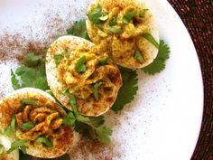Avocado and Chipotle Deviled Eggs