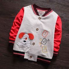 Find More Jackets & Coats Information about (6M 3T)Baby Cute Dog Printed Baseball Jersey, Boys & Girl Hip Hop Sport Jacket, Cotton Bomber Jackets, Kids Hoodies Coat Clothes,High Quality jacket blazer,China jackets Suppliers, Cheap clothes gun from Witness the Growth of Children on Aliexpress.com