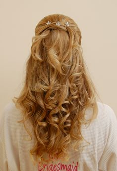 Wedding Hair #curls #beautiful
