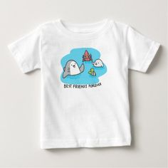 Best friends forever! baby T-Shirt - wood gifts ideas diy cyo natural