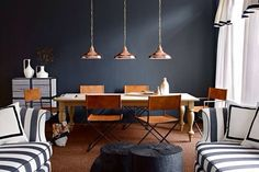 Black and Orange living space