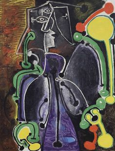'Femme assise' (1949) by Pablo Picasso