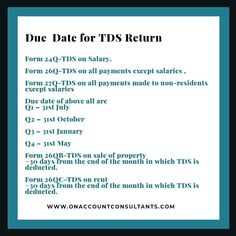 Lear more about TDS Return. Tax Deducted At Source, Due Date, Tax Deductions