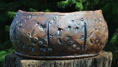 Indoor Stoneware Planter by SaludaSpringStudios on Etsy, $160.00
