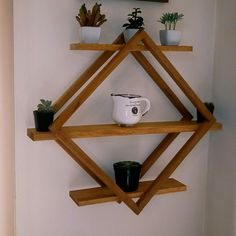 Home Decor Furniture, Diy Home Decor, Diy Wall Art, Wall Decor, House Plants Decor, Diy Pallet Projects, Wood Pallet Crafts, Wall Shelves Design, Woodworking Furniture