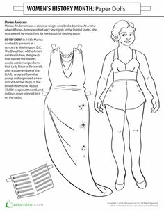marian anderson paper doll