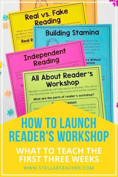 Reader's workshop is my favorite structure to use for my reading instruction. Everyone has their own way to launch reader's workshop. In this post I walk you through the first three weeks of reader's workshop in my classroom. Reading Lessons, Reading Strategies, Reading Skills, Teaching Reading, Guided Reading, Reading Comprehension, Reading Goals, Comprehension Strategies, Learning