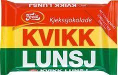 """""""Kvikk Lunsj"""" - A Norwegian chocolate bar similar to a Kit Kat."""