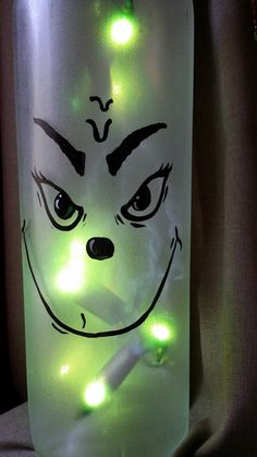 Grinch Lighted Wine Bottle by KarensWineSeller on Etsy