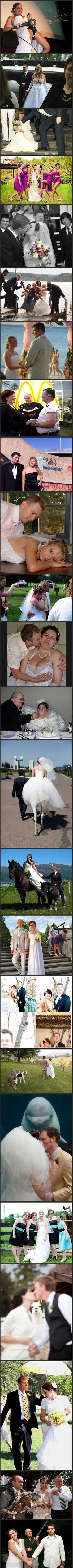 Hilarious WTF wedding photos.