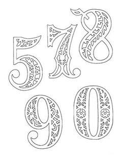 filigrán számok és betűk