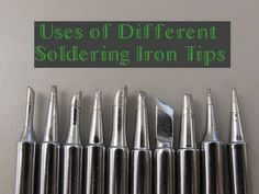 Uses of Different Soldering Iron Tips