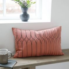 Housedoctor Sierkussen hoes Graphic roze zwart katoen 30x50cm - wonenmetlef.nl