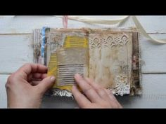 """Vintage style junk journal. """" My story """". ( sold ) - YouTube"""