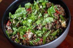 Lentil quinoa chopped salad. Except probably minus Lentils because they freak me out.