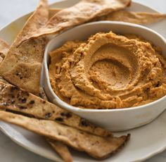 Hummus de auyama y especias