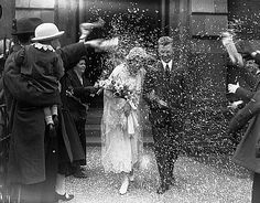1920s Wedding - so pretty until i think about all the birds that may have exploded from that rice...
