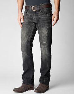 True Religion Ricky Straight Black Mens Jean