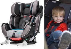 Stumped on what carseat to buy? Read this Evenflo Platinum Symphony DLX carseat review on TheMombot.com #EvenfloPlatinum