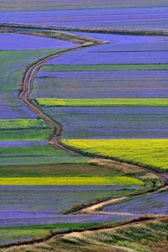 Umbria. Castelluccio. E' l'ora del blu ♠ Repubblica.it - foto di Arturo Cocchi - click for more