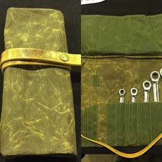 The first lions den tool roll made yesterday at kickback custom show. Waxed…