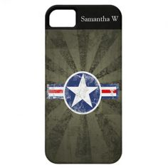 Army Air Corps Vintage Star Patriotic iPhone 5 Case.  $39.95