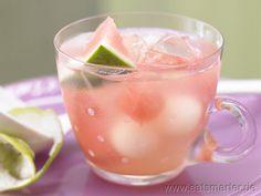 Melonenbowle - smarter - mit Limetten. Kalorien: 78 Kcal | Zeit: 20 min. #drinks