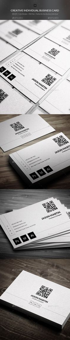 Buy Creative Individual Business Card - 25 by bouncy on GraphicRiver. Business card – perfect for any industry. x with bleed) 300 DPI CMYK Print Ready! Vertical Business Cards, Unique Business Cards, Business Card Design, Creative Business, Business Card Maker, Event Flyer Templates, Card Templates, Creative Names, Name Card Design