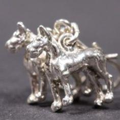 Great Dane silver EARRINGS (hooks) cropped