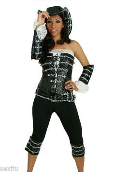 Sexy Pirate Lady Costume Captain Sailor Halloween Costume