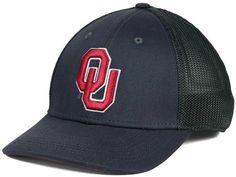 This Nike NCAA L91 Mesh Swoosh Flex cap is the best of both worlds, with the textured front, and a mesh back to keep your head cool. The Oklahoma Sooners logo is embroidered in authentic team colors, which match the mesh and the Nike swoosh at the back. Mid crown Structured fit Normal bill Raised embroidered team logo at front Stitched Nike swoosh logo at back Dri-FIT technology Stretch fitted Cotton/polyester Spot clean only