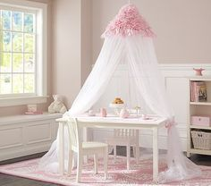 Pink Ruffle Canopy #PotteryBarnKids