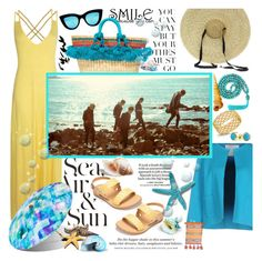 """""""Smile... i am going away..."""" by purplecherryblossom ❤ liked on Polyvore featuring Nannacay, Giada Benincasa, Boohoo, Korks, Valentino, Quay, Roberto Coin, Bling Jewelry, Loewe and H&M"""