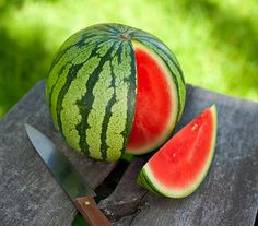 How to Pick a Watermelon:  1. Pick It Up: Big or small, the watermelon should feel heavy for its size. 2. Look for the Yellow Spot: Watermelons develop a splotch where they rest on the ground. When this splotch is creamy yellow, it's ripe. 3. Give It a Thump: Tap the underbelly of the watermelon. A ripe one will have a deep hollow sound. Under-ripe or over-ripe melons will sound dull.