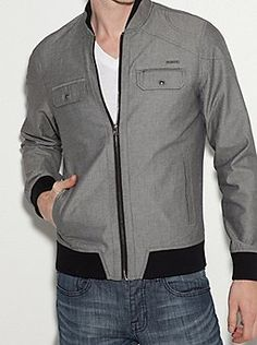 Phoenic Mock Neck Jacket #Mens #Fashion #GbyGUESS